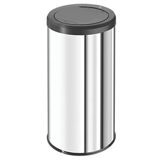 Hailo Big Bin Touch 45 Household Waste Bin Stainless Steel 45Ltr