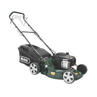 Webb WER18SP 46cm N/Ahp 125cc Self-Propelled Rotary 3-in-1 Petrol Lawn Mower