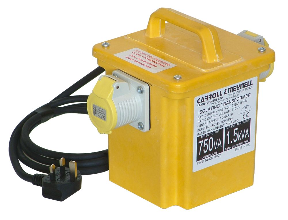 Portable Transformer with 2 Output Sockets 1.5kVA
