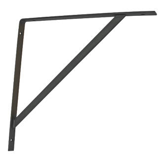 Heavy Duty Brackets Black 400 x 400mm 2 Pack