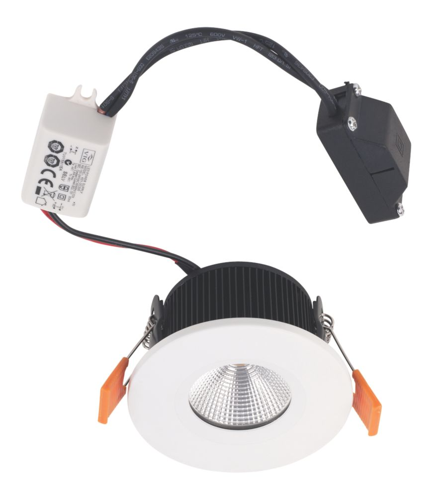 Image of Smartwares Fire Rated Fixed LED Downlight IP65 White 3W