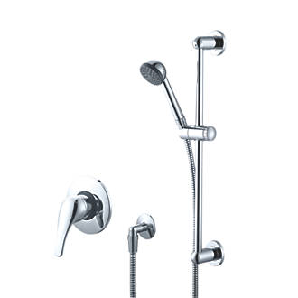 Swirl BuiltInExposed Manual Mixer Shower Fixed Chrome Effect