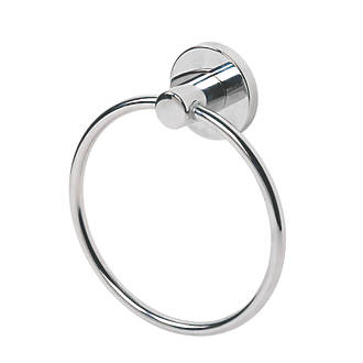 Swirl Cirque Bathroom Towel Holder Ring ChromePlated