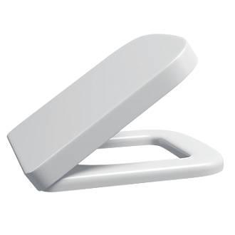 Supreme DShape SoftClose Toilet Seat Polypropylene White