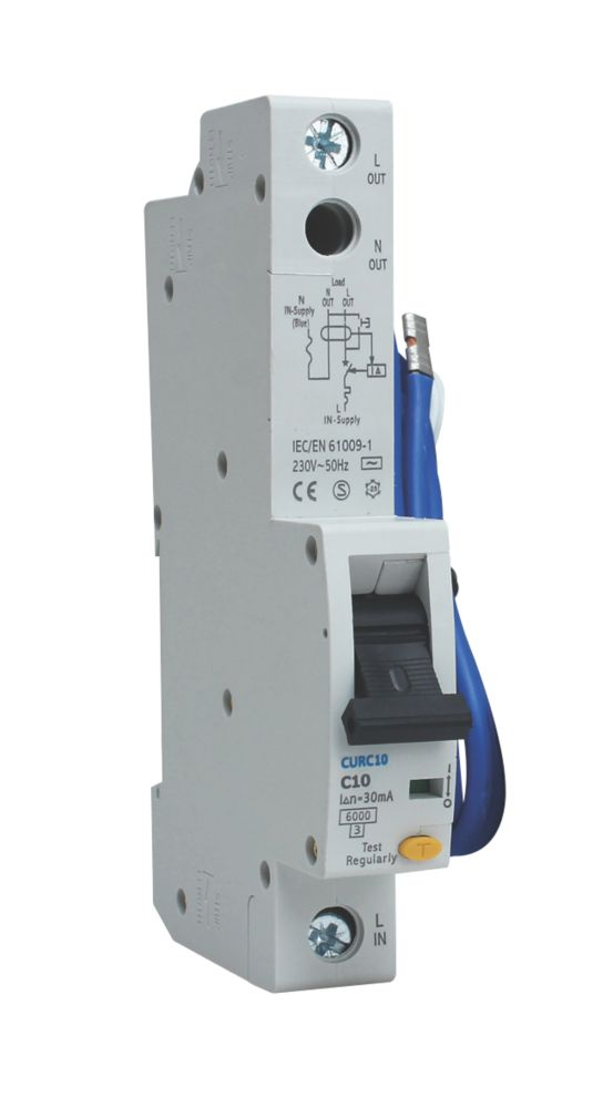 Image of BG 10A 30mA Single Pole Type C RCBO