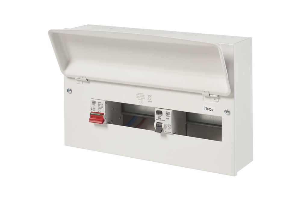 Image of MK Sentry 100A 16-Way Split Load Metal Consumer Unit & 63A RCD