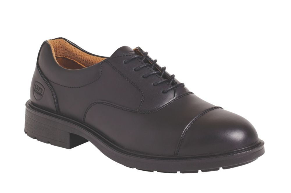 City Knights Oxford Executive Safety Shoes Black Size 8