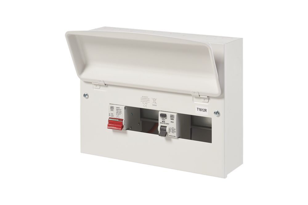 Image of MK Sentry 100A 12-Way Split Load Metal Consumer Unit & 80A RCD