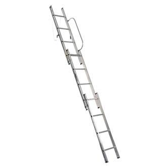 Abru 38003 Abru Loft Ladder Aluminium 3Section 12Tread