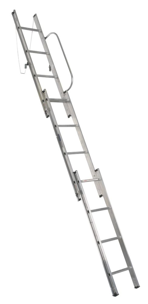 Abru 38003 Abru Loft Ladder Aluminium 3-Section 12-Tread