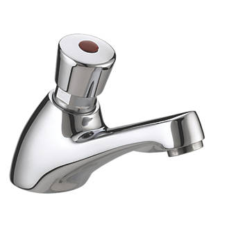 Bristan Timed Flow Compression Valve Bathroom Basin Pillar Mixer Tap Chrome