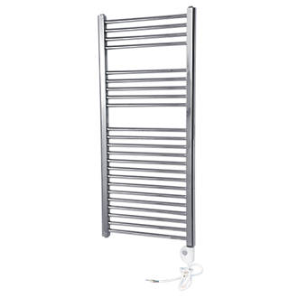 Flomasta Flat Thermostatic Towel Radiator Chrome 1100 x 500mm 853Btu