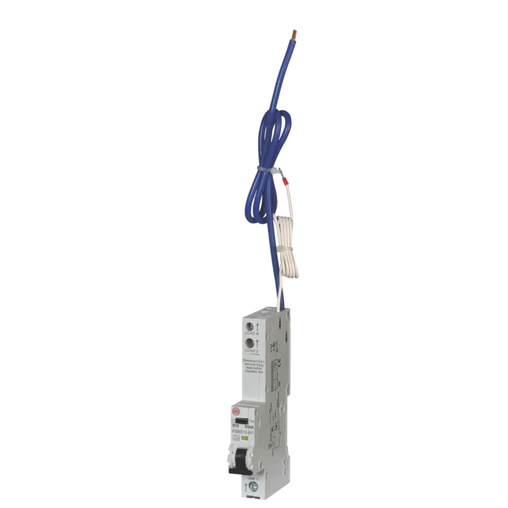 Image of Wylex 10A 30mA Single Pole Type B RCBO