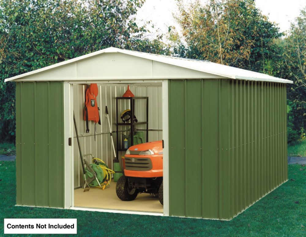 Garden Sheds 10 X 8 metal sheds, metal garden sheds   sheds   screwfix