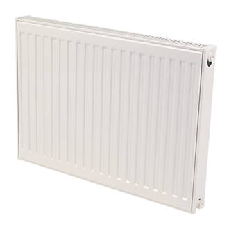 Kudox Premium Double Panel Plus Compact Convector Radiator White 400 x 800mm.