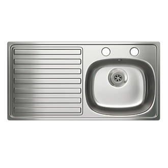 Carron Phoenix Kitchen Sink S/Steel 1-Bowl 940 x 485mm at Screwfix