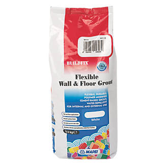 Mapei BuildFix Flexible Wall & Floor Grout White 2.5kg.