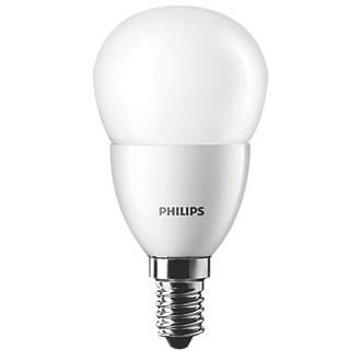 Screwfix Light Bulbs: Philips Golf Ball LED Lamp SES 6W,Lighting