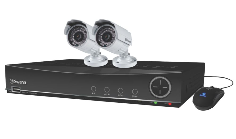 Swann SWDVK-441002A-UK 4 Channel 960H Digital Video Recorder and 2 x PRO-842 Cameras (White)