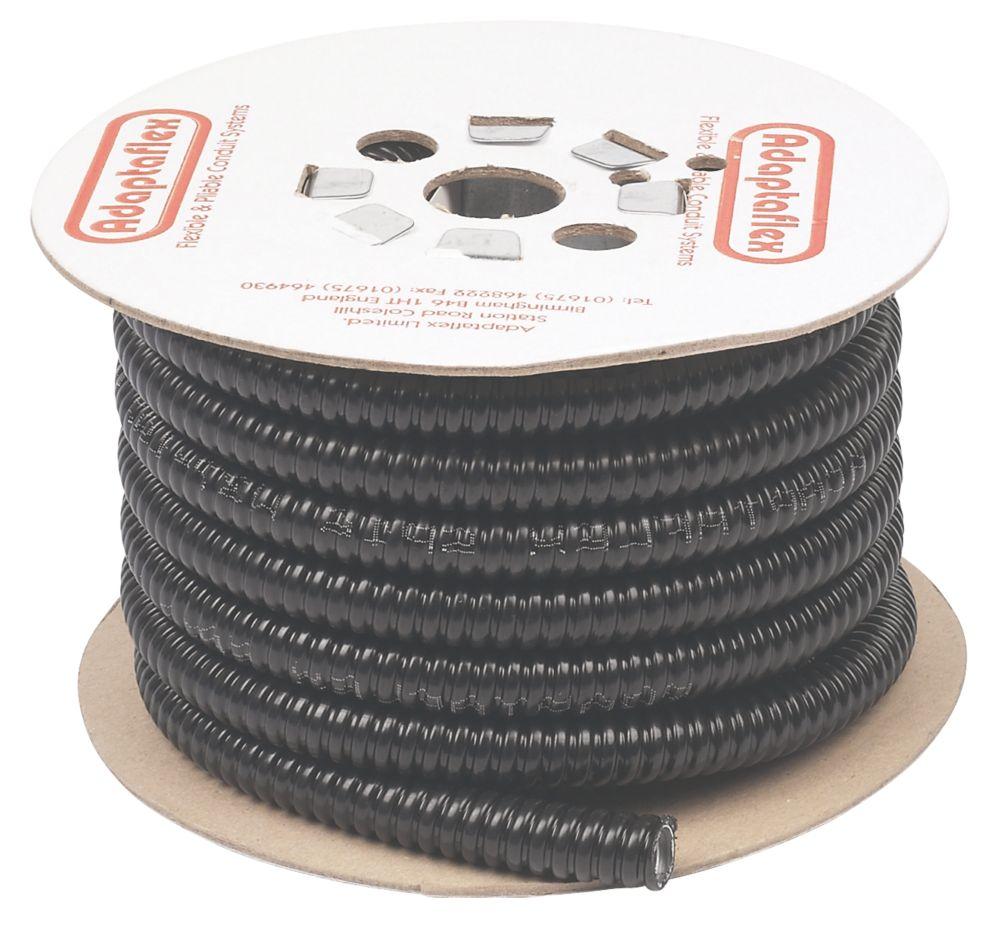 Adaptaflex Liquid Resistant Covered Steel Conduit 16mm x 10m Black