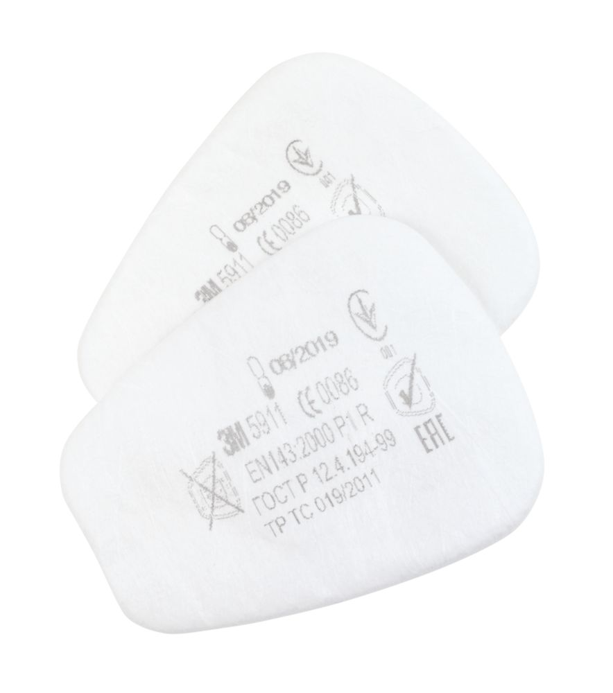 3M 5911 Particulate Filters P1R 2 Pack