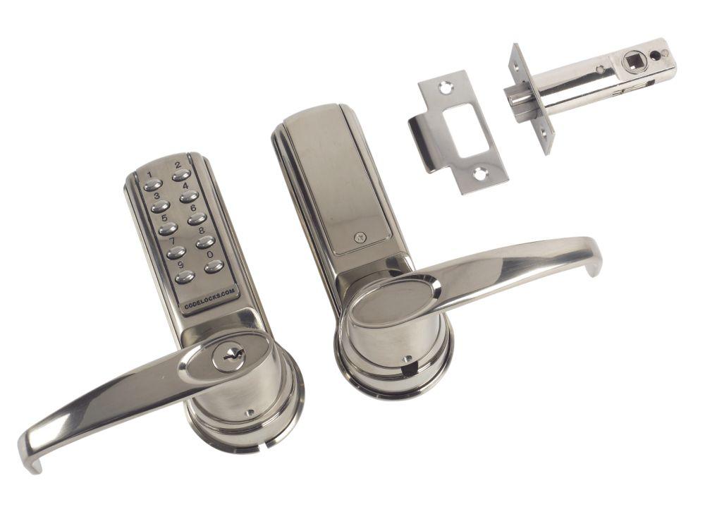 Codelocks CL4010 SS Electronic Medium Duty Push Button Lock Tubular Latch