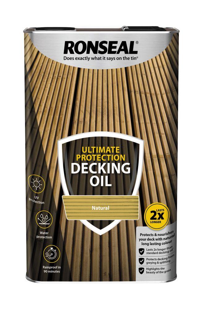Image of Ronseal Decking Oil Natural 5Ltr