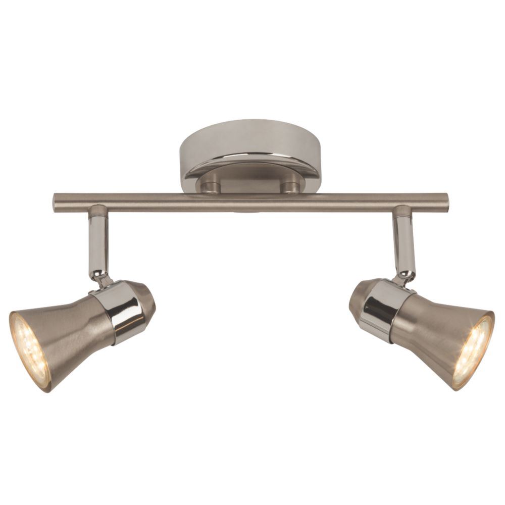 Image of Brilliant 2-Light LED Spotlight Satin Chrome 500lm 5W
