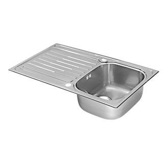 Pyramis Coventry Kitchen Sink S/Steel 1-Bowl 860 x 190mm