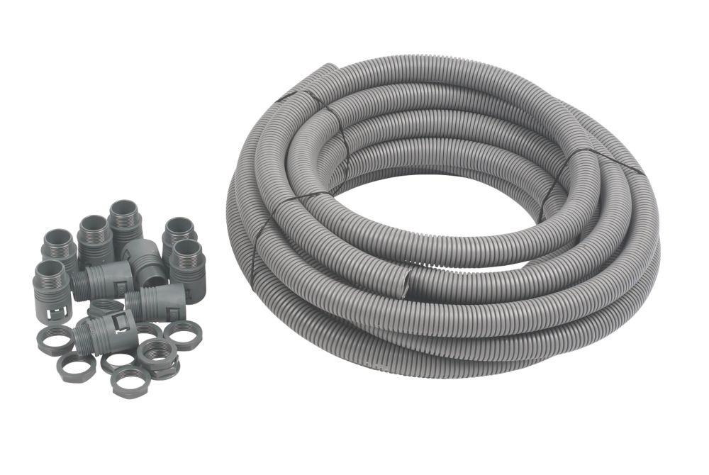 Adaptaflex General Purpose Pack & PVC Pliable Conduit 25mm Grey