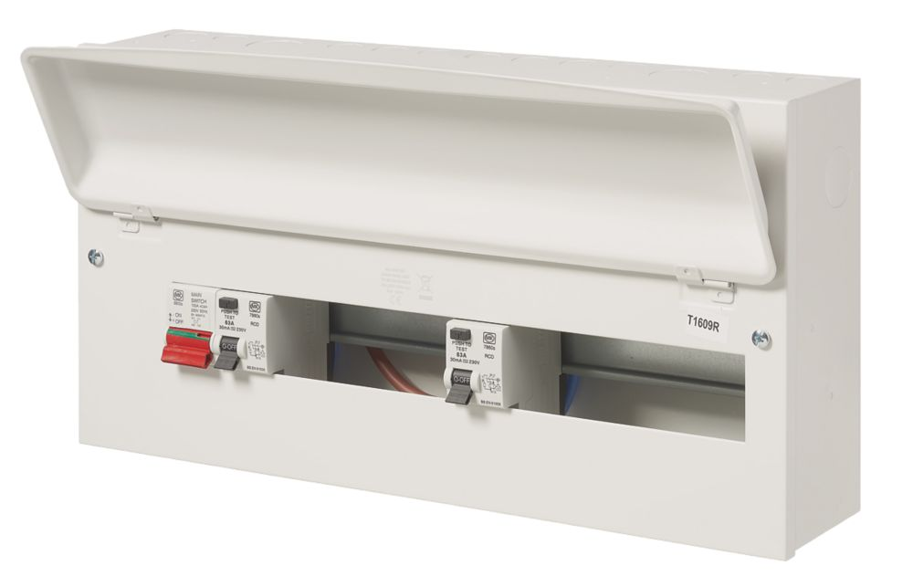 Image of MK Sentry 100A 21-Way Dual RCD Metal Consumer Unit & 2 x 63A RCDs