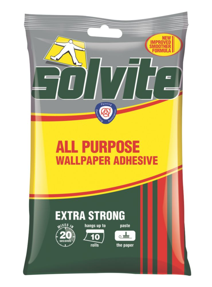 Image of Solvite Extra Strong Wallpaper Adhesive 10 Roll Pack
