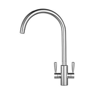 franke ascona sink mounted mono mixer kitchen tap chrome - Kitchen Sink Tap
