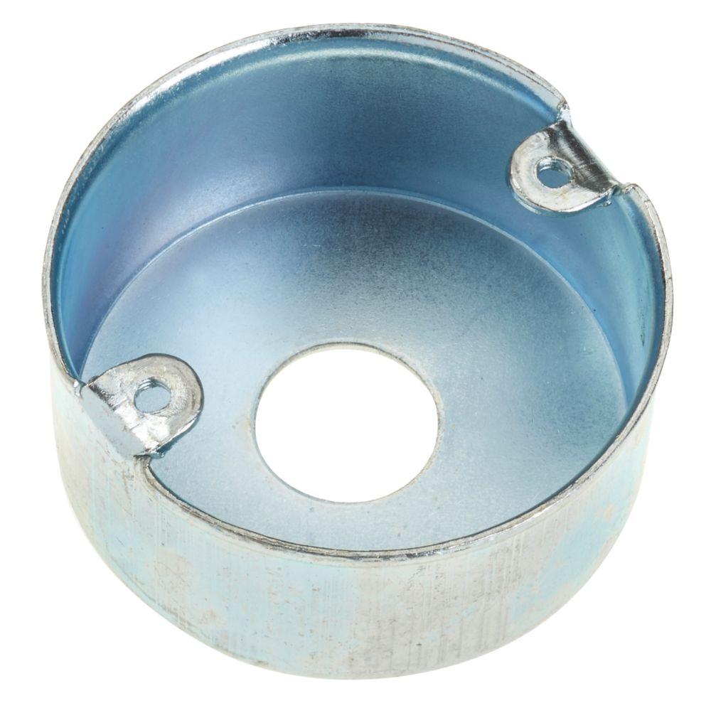 Deta BZP Metal 1-Hole Loop-In Conduit Box 20mm