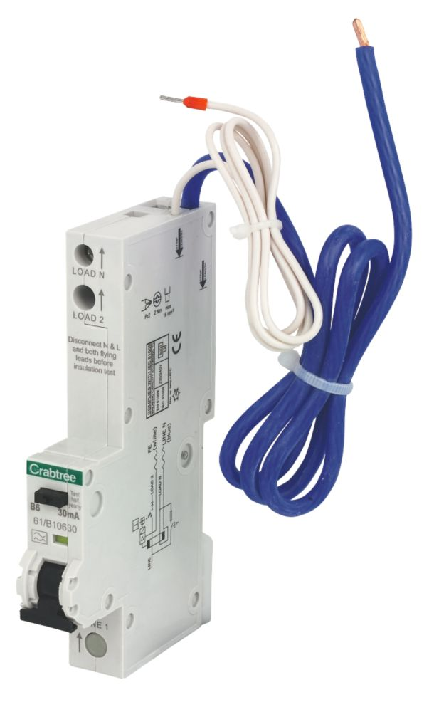 Crabtree Starbreaker 6A 30mA SP Type B RCBO