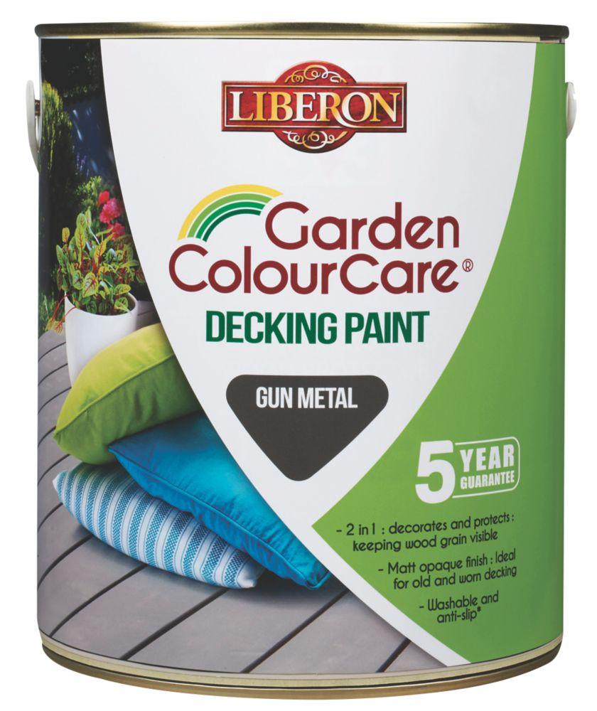 Image of Liberon Decking Paint Gun Metal 2.5Ltr