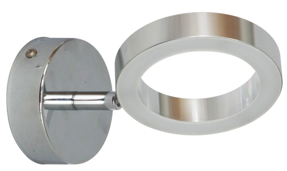 Image of Ranex Anzio Bathroom Wall Light Brushed Chrome 3.6W