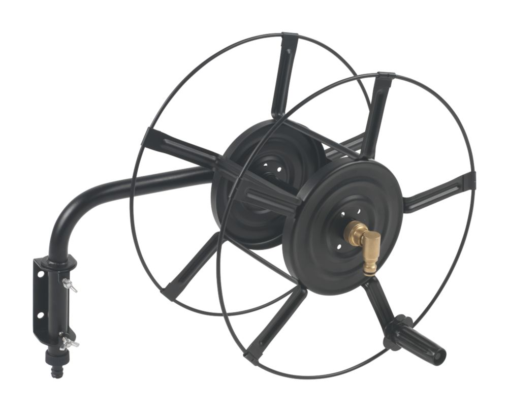 Wall Mounted Hose Reel 60m Hoses Hose Reels Screwfixcom