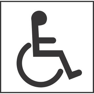 Disabled Toilet Symbol Sign 150 x 150mm   Disabled Signs   Screwfix com. Disabled Toilet Symbol Sign 150 x 150mm   Disabled Signs
