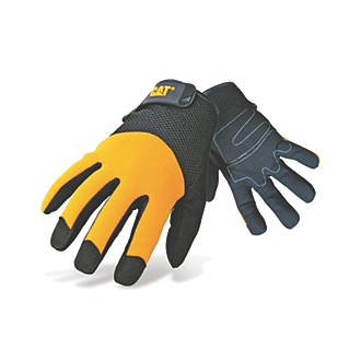 CAT Padded Palm Utility Padded Palm Gloves Yellow Large