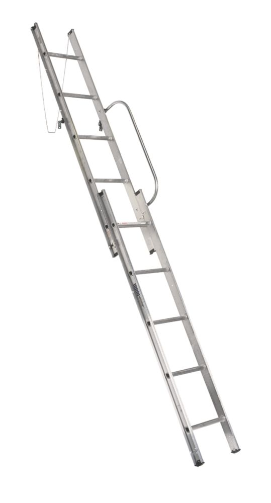 Abru 38002 Abru Loft Ladder Aluminium 2-Section 10-Tread