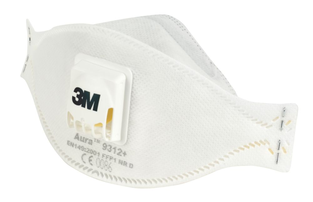 3M Aura 9312 Aura 9312 Disposable Valved Dust/Mist Respirator FFP1