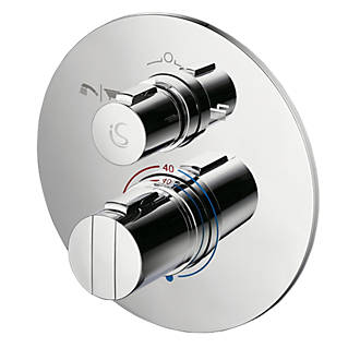 Ideal Standard Concept Easybox Slim BuiltIn Thermostatic Mixer Shower Valve & Diverter Fixed Chrome