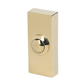 Byron Wired Bell Push Solid Brass 32 x 20 x 74mm.