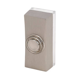 Byron Wired Bell Push Brushed Nickel 25 x 20 x 60mm.
