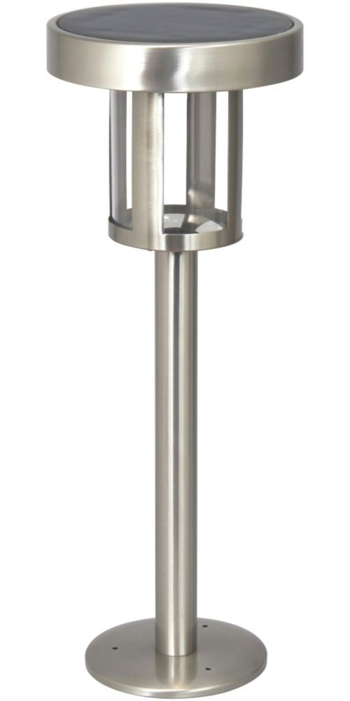 Image of Ranex LED Solar Post Light Stainless Steel