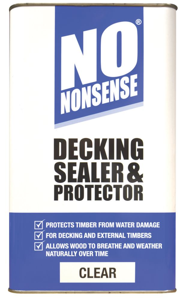 Image of No Nonsense Decking Sealer & Protector Clear 5Ltr