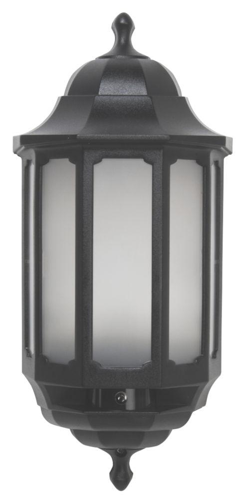ASD LED Half Lantern with Photocell Black 8.5W