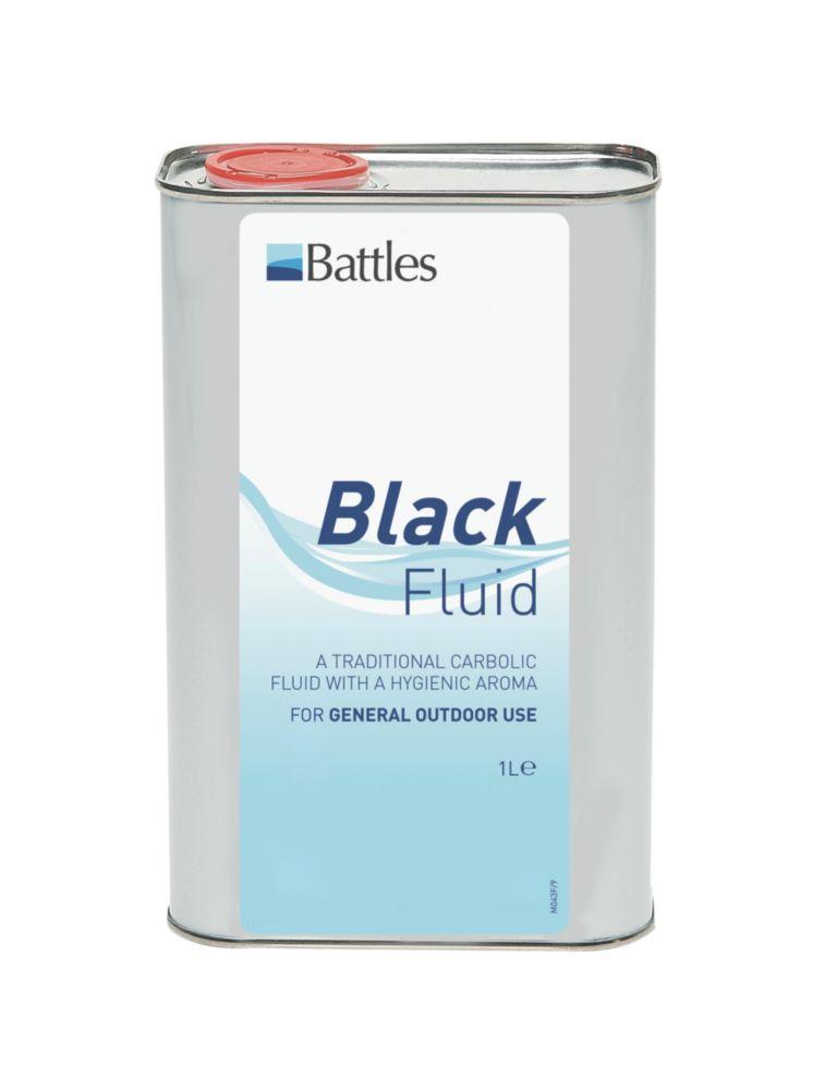 Battles Black Disinfectant Fluid 1Ltr