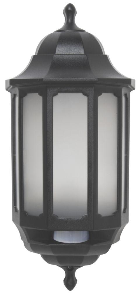ASD Half Lantern LED with PIR Black 283lm 8.5W